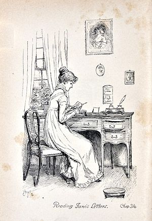 """English: """"Reading Jane's letters"""" - ..."""