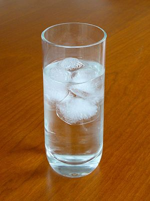 Two phases (water and ice) in different states...