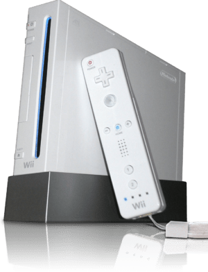 Wii with Wiimote (transparent background with ...