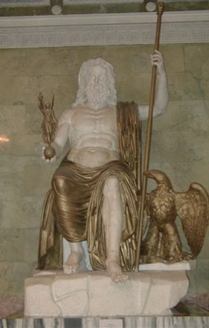 Statue of Zeus somewhere in the Hermitage