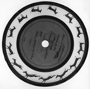 Zoopraxiscope disc by Eadweard Muybridge
