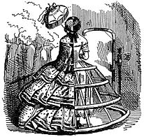1st patented cage crinoline.Fullness of the skirt is even further emphasised.