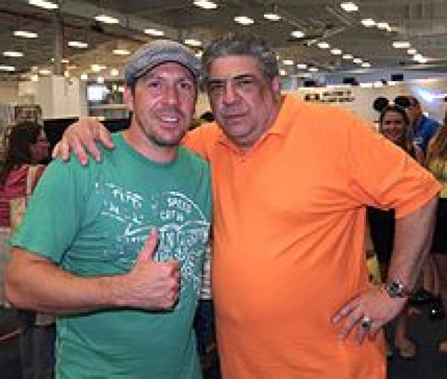Park Posing With Vincent Pastore At The 2013 Wizard World New York Experience