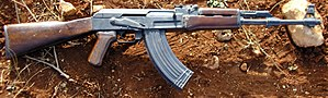 AK-47 automatic rifles were widely used by the...