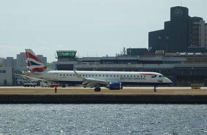 BA CityFlyer Embraer ERJ-190SR G-LCYN at Londo...