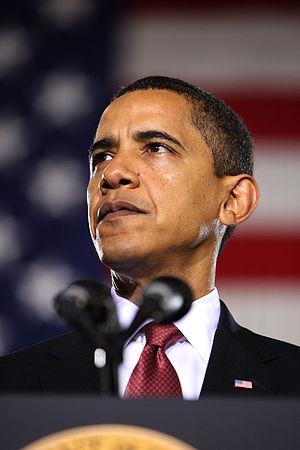 President of the United States Barack Obama ta...