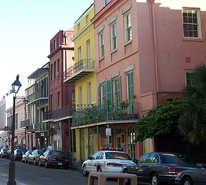 Colorful homes in New Orleans, 2001, from Cont...