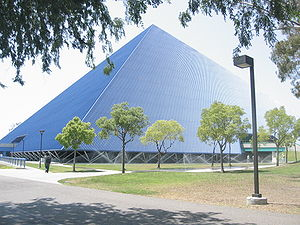 Walter Pyramid at the Cal State Long Beach cam...