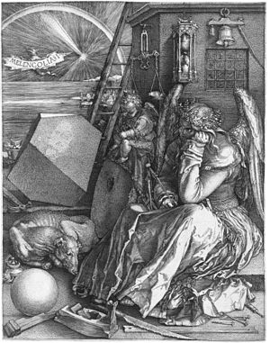 Melencolia I by Albrecht Dürer, the first appe...