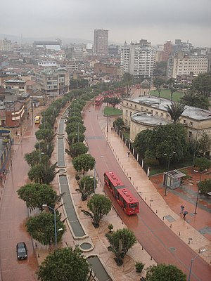 """Eje Ambiental"" on Bogota Downtown, ..."