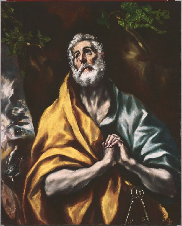 """""""The Repentant Saint Peter"""" by El Greco"""