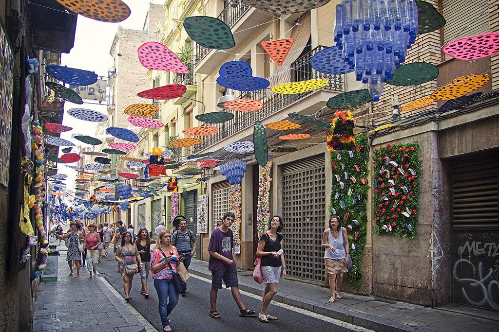 Quartier De Gracia Barcelone Lancien Village Bohme