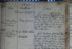 Baptismal registration George Frideric Handel ...