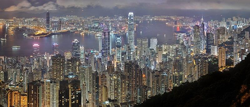 Ficheiro:Hong Kong Night Skyline.jpg