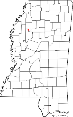 Minter City, Mississippi location map; created...