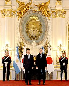 Abe with Argentine President, Mauricio Macri, Buenos Aires, November 2016.