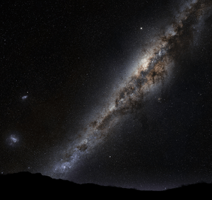 English: The Milky Way galaxy as seen in Earth...