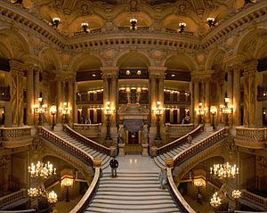 The Large Staircase of The Garnier Opera, in P...