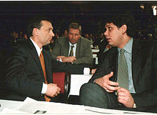 Viktor Orbán with Tamás Deutsch in 2000