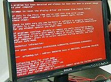 ecran bleu de la mort wikipedia