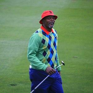 Samuel L Jackson golfing