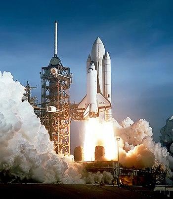 Space Shuttle Columbia launching edit