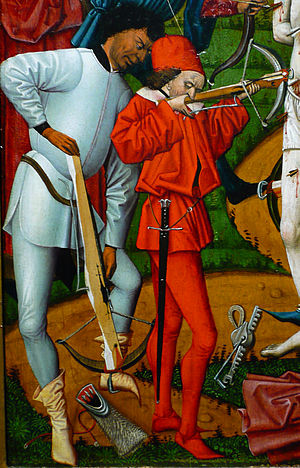 Crossbowmen at the Martyrdom of St Sebastian. ...