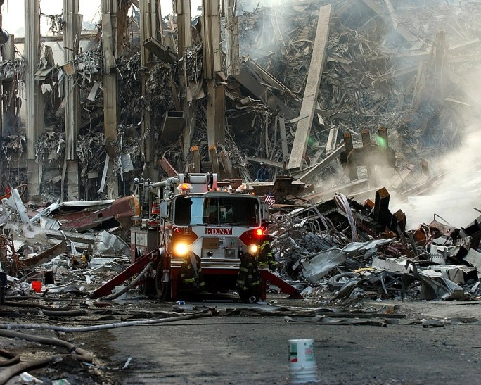 World Trade Center collapsed following the Sept. 11 terrorist attack September 16 2001