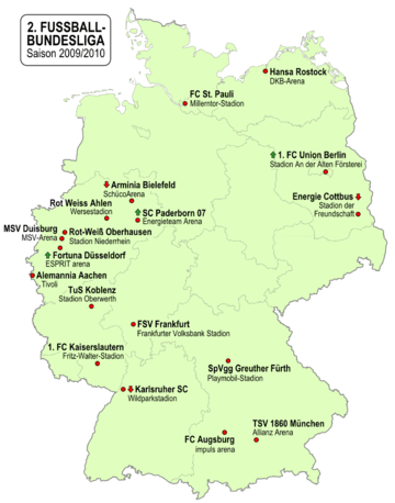 2. Bundesliga 2009/10 Teams
