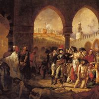 """Bonaparte Visiting the Plague Victims of Jaffa"" by Antoine-Jean Gros"