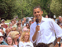 US Senator Barack Obama campaigning in New Hampshire
