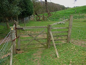 English: Between the stiles The stiles where t...