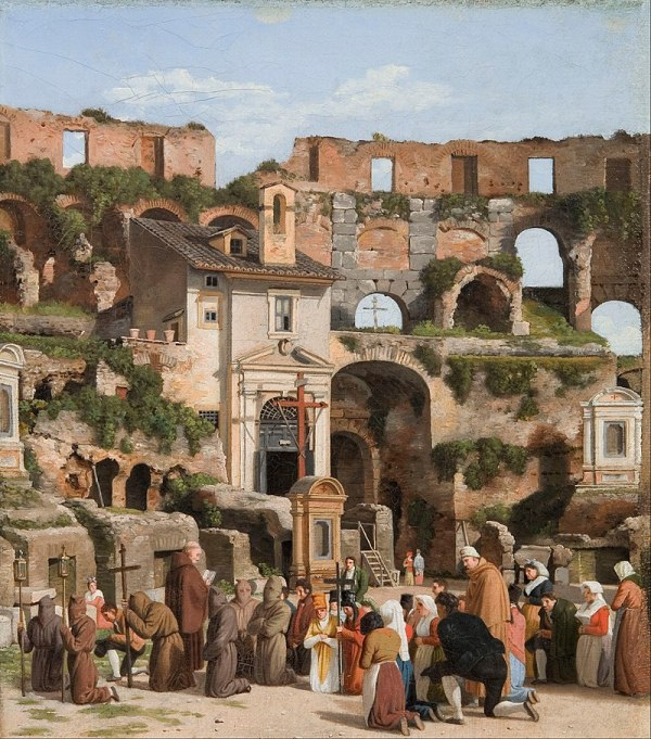 Ancient Rome Colosseum Painting