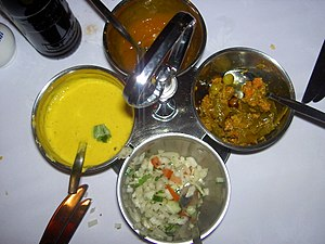 Various chutney from Indian cuisine