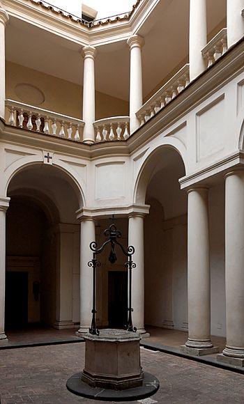 English: Cloister of San Carlo alle Quattro Fo...