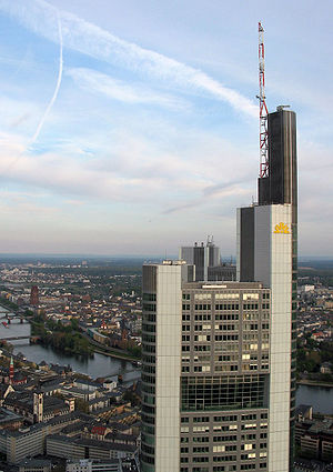 Commerzbank Tower in Frankfurt from the top of...
