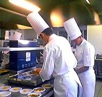 Chefs in training in Paris
