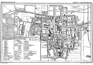 Historic map of The Hague, the Netherlands