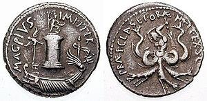 Sextus Pompeius denarius, minted for his victo...