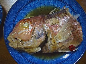 Fish head served in Japan