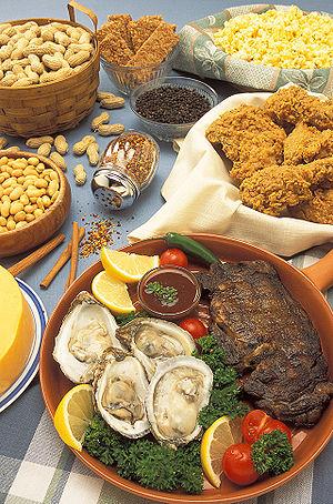 Foodstuff containing zinc