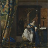 """The Allegory of Faith"" by  Johannes Vermeer"