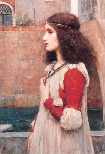 Juliet or The Blue Necklace (1898) by John Wil...