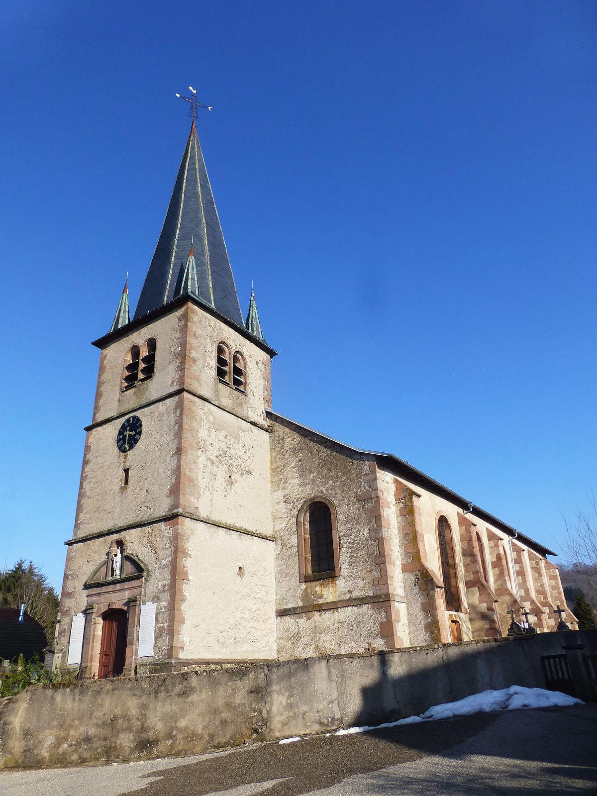Glise Saint Nicolas De La Croix Aux Mines Wikipdia