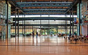 Pixar Animation Studios atrium.