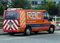An RAC roadside-assistance van in 2004.