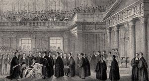 English: Admission of the Senior Wrangler in 1842