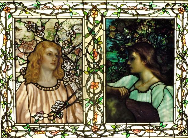 Spring and Autumn Emmet 1892 Tiffany Glass