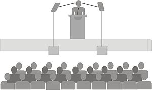 Español: Teleprompter de podium