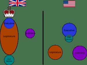 English: brief diagram comparing the role of c...